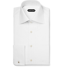 Tom Ford - Pleated Cotton Tuxedo Shirt