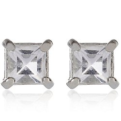 River Island - Grey Gemstone Stud Earrings