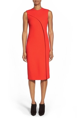 Michael Kors  - Stitch Detail Pebble Cady Sheath Dress