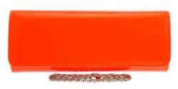 Girly Handbags - Patent Clutch Bag