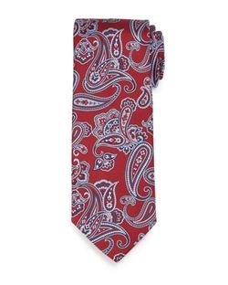 Brioni   - Textured Paisley-Print Silk Tie
