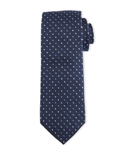 Neiman Marcus - Polka-Dot Silk Tie