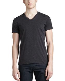 Theory - V-Neck Silk-Cotton Tee