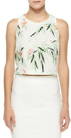 Elizabeth and James - Terri Floral Crop Top
