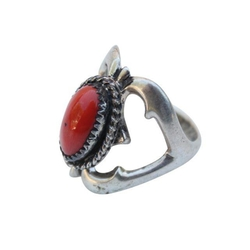 Vintage Native - American Coral Ring