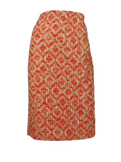 Lafayette 148 - Tweed Leather Trim Pencil Skirt