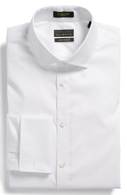 Calibrate  - Non-Iron Extra Trim Fit Stretch French Cuff Dress Shirt