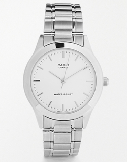 Casio - Silver Stainless Steel Strap Watch