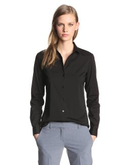 Theory  - Larissa Luxe Cotton Button Up Shirt