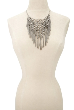 Forever 21 - Chain Fringe Statement Necklace