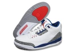Nike  - Air Jordan 3 Retro True Blue Basketball Shoes