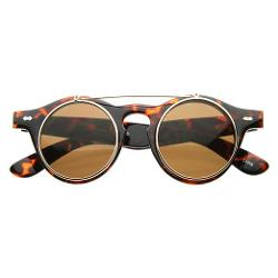 MLC Eyewear  - Flip up Round Vintage Wayfarer Retro Sunglasses