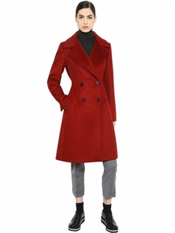 Sportmax - Double Breasted Virgin Wool Coat