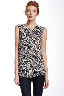 Vince Camuto  - Sleeveless Animal Print Blouse