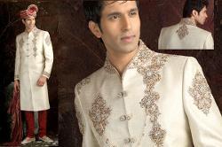 Indian Attire - Off White Sherwani