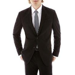JF J. Ferrar - Charcoal Striped Suit Jacket
