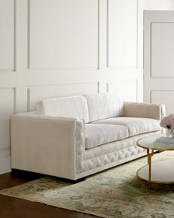 Haute House  - Bently White Tufted Sofa