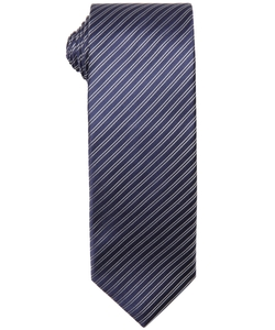 Prada - Baltic Diagonal Stripe Print Silk Tie
