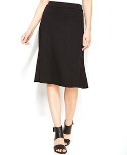 Eileen Fisher  - Solid Knee-Length Flare Skirt