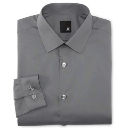JF J. Ferrar - Solid Slim Fit Dress Shirt