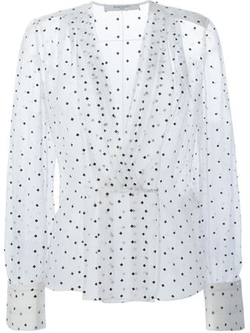 Givenchy - Cross Print Sheer Blouse