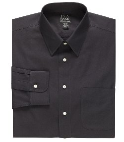 Jos. A. Bank - Solid Long-Sleeve Point Collar Dress Shirt