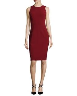 Michael Kors Collection - Sleeveless Jewel-Neck Sheath Dress