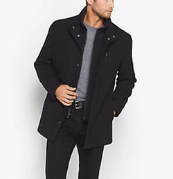 Michael Kors Mens - Wool-Blend Car Coat