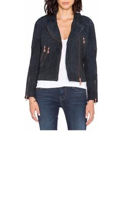 Doma - Suede Moto Jacket