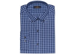 Club Room Estate - Wrinkle-Resistant Checked Dress Shirt