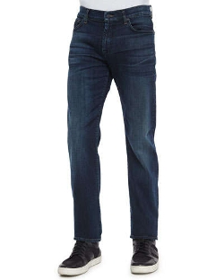 7 For All Mankind - Standard-Fit Marine Denim Jeans