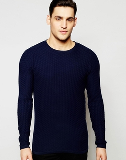 Jack & Jones - Premium Textured Knitted Sweater