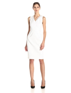 T Tahari - Ronnie Stretch Cotton Sheath Dress