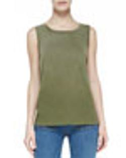 Current/Elliott  - Faded Cotton Muscle Tank