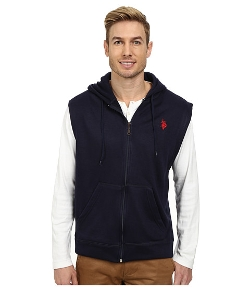 U.S. Polo Assn. - Fleece Sleeveless Hoodie Vest