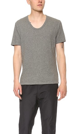 T By Alexander Wang - Classic Low Neck Tee Shirt