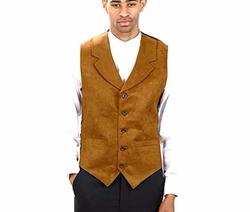 Six Star Uniforms - Suede Notch Lapel Dress Vest