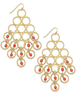Inc International Concepts - Bead Circle Chandelier Earrings