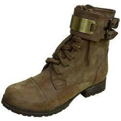 Breckelles - Biker-11 Stylish Distressed Combat Boots