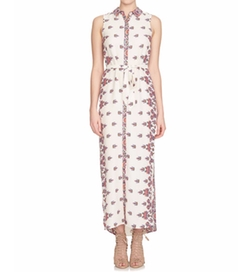 Cynthia Steffe  - Sleeveless Kaleidoscope-Print Maxi Shirtdress