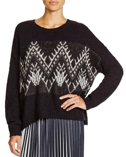 DKNY Pure - Geometric Pattern Sweater