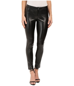 DKNYC  - Faux Leather Skinny Ankle Ponte Pants