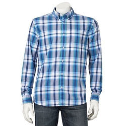 Brie Larson Woolrich Buffalo Check Flannel Shirt From