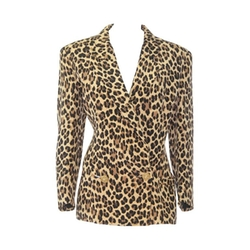 Gianni Versace - Animal Printed Silk Jacket