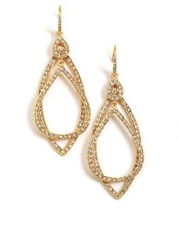 A.B.S. by Allen Schwartz  - Pave Orbital Earrings