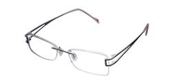 De Ding  - Rimless Titanium Frame High-grade Diamond Optical Myopia Glasses