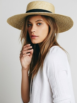 Free People - Spencer Wide Brim Boater