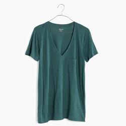 Madewell  - Slub V-Neck Pocket T-Shirt