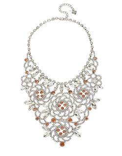 Betsey Johnson - Ballerina Rose Stone Bib Necklace
