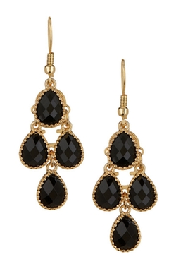 Natasha Accessories - Teardrop Cluster Earrings